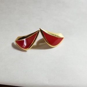 Vintage Monet Sail Design Clip On Earrings